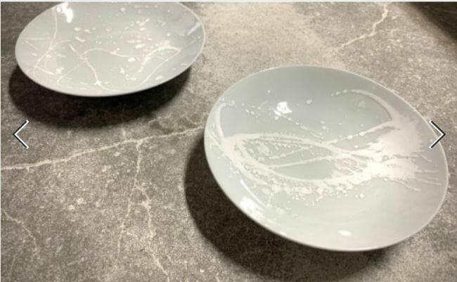 【有田焼】釉滴皿(中) グレー【井上萬二窯】